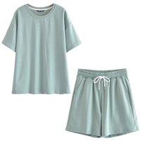 Женские шорты Cody Lundin Pure Green Sportsuits 2 шт. / Наборы трексуиты 100% хлопчатобумажные ругаести