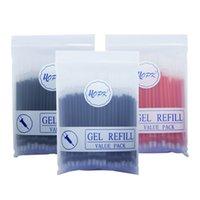100pcs lot Office Gel Set 0.5mm 0.38mm Blue Black Red Ink Rod Bullet needle Tip Pen Refill School Writing Stationery