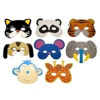 Мультфильм Детей 12 шт. EVA Пена животных маска Хэллоуин рождественские дети партии костюмы маски CI59
