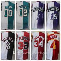 Uomini diviso Due ColorsAllen Iverson Iverson Scottie Pippen Hakeem Olajuwon Tracy McGrady Vince Carter Mike Bibby Spud Webb Ja Morant Basket Ball Baskey