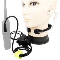 Micrófono telescópico Vibración natural, auriculares con micrófono U94 PTT para Tactical Z Walkie Talkie Kenwood Baofeng UV-5R