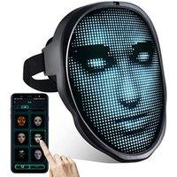 Máscara LED de Halloween con la máscara de la cara Bluetooth programable BT Mask Control del teléfono DIY Mensajes LED