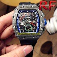 Eternity Sport Watches RF V2 Aggiornamento versione 11-04 NTPT Custodia in fibra di carbonio Giappone Miyota Automatico RM11-04 11-03 Scheletro Dial Mens Guarda cinturino in gomma nera di alta qualità