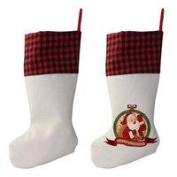 التسامي الجاموس منقوشة عيد الميلاد تخزين فارغة عيد الميلاد الحلوى الجوارب هدية حقيبة سانتا جوارب شجرة زينة عيد الميلاد بواسطة البحر T2I52355