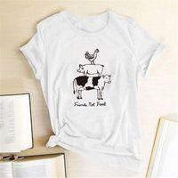 Women's T-Shirt Friends Not Printing T-shirts Women Shirt Summer Cute Shirts For Ladies Tshirts Cotton Harajuku Tee Camisetas Mujer