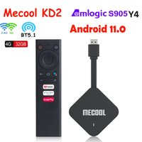 Presale Mecool KD2 TV Box Android 11 2T2R Amlogic S905Y4 Dual WIFI BT5.1 Media Player Set Top Box USB-MICRO Cable