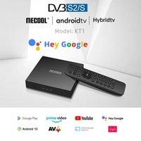 4K Satellite MECOOL KT1 TV Receiver Amlogic S905X4 Netflixs Android TV 10 DVB-S2 Dolby Google Italy Spanish TV BOX