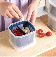 Caja de almacenamiento de frutas plásticas 2 celosías selladas granos crujientes del tanque Clasificación de la cocina Cajas de contenedores de alimentos OOD6405