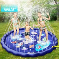 66 3-in-1 Kids' Sprinkler Pad For Kids Summer Fun Sport Outdoor Water Toy Lawn Inflatable Pool Toys Splash Play Mats Pool A0517