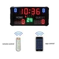 Schreibtischtischuhren Ganxin App Control LED Basketball Anzeigetafel mit 24 s Uhr
