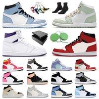 Nike Air Jordan Retro 1 Basketball Schuhe Männer Frauen Jumpman Jordans 1s OFF White Mid Milan Light Smoke Grey High Fearless Travis Scott Mocha Obsidian Turnschuhe Trainer