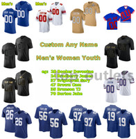 2021 Giants American Football Trikots James Bradberrich Jersey Gary Brightwell Cam Brown TJ Brunson Jake Burton Lorenzo Carter Corey Clement Custom genitt genäht