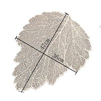 Placemat Dining Table Coasters Leaf Simulation Plant PVC Coffee Cup Table Mats Hollow Kitchen Christmas Home Decor Gifts HHE6634