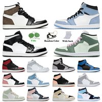 Nike Jordan's Air Jordan Jorden 1 1s Retro Jumpman Jordan1s Mens Basketball Shoes High OG University Blue Dark Marina Mocha Royal One Mid Carbon Fiber Dutch Green Seafoam Trainers