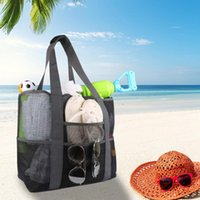 Pool & Accessories High Capacity Women Mesh Transparent Bag Double-layer Large Holiday Picnic Beach Park Storage Tote Summer Swimming Travel