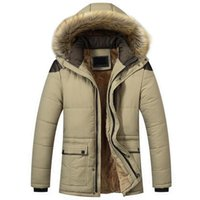 Men's Down & Parkas Winter Jacket Men Velvet Thicken Cotton Coats Mens Casual Parka Jaqueta Masculina Casaco Warm Removable Fur Hooded Jacke