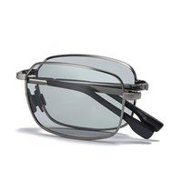 Óculos de sol Masculinos Piscomáticos Piscomáticos Dobrável Outdoor Dobrável Dobrável Noite Visão Andar Chameleon Lens Sun Glass