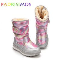 Boots Fashion Kids Knee High Children's Snow Winter Warm Non-slip Outsole Thick Large Size 27 To 41 For Girls JSH