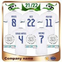 21/22 플레이어 버전 레알 마드리드 축구 유니폼 2021 홈 위험 Kroos Modric Sergio Ramos Maillots de Football Shirt Benzema Marcelo Asensio ISCO 유니폼