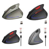 Mice T22 Wireless Ergonomic Vertical Mouse 2.4GHz 2400DPI For PC Laptop K92C