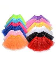 스팽글 투투 드레스 어린이 옷 아기 소녀 댄스 발레 스커트 얇은 명주 그물 털이 멋진 파티 스커트 의상 댄스웨어 YL556