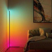 침실 거실 분위기 조명에 대 한 노르딕 LED 코너 RGB 플로어 램프 다채로운 홈 장식 실내 조명 서 램프