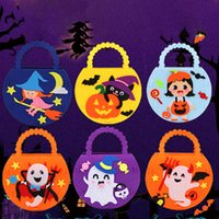 Halloween Party Kids Childrens DIY Gifts Big Candy Bag For Gift Trick Or Treat props Non-woven Handbag HappyAll Saints Day 2021