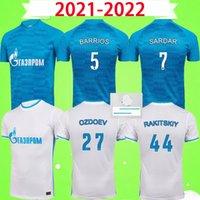 21 22 FC Zenit St. Petersburg Soccer Jerseys Cup Home Away Blue Grey Malcom Lovren Football Hemd 2021 2022 Santos Barrios MAILTOT DE FOOT S-2XL mit Flecken