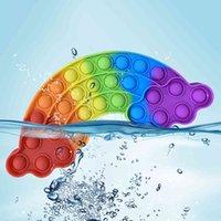 Coloridas Nubes Empuje Burbujas Juguetes Sensoriales Aliviar Presión Adulto Indemada Mental Concentración Aritmética Mental Drustration Puzzle Toys Q0422