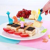 Animal Manor Bonito Mini Bento Sinal Crianças Fruit Fruit Fruit Conjunto Criativo Plástico Decoração 7 estilos FWF10209