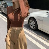 Fox's Casual Dresses Mrs. bottoming shirt with waist closing short style for women