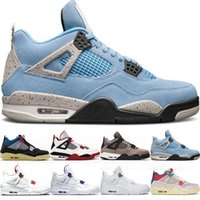 Basketball Shoes 4s Men Chaussures 4 University Blue White O...