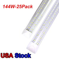 Bombillas LED de 4FT 72W 50W 36W 36W COURANTE LED LED Bombillas T8 T8 Integrated Shop luces SMD2835 Tubos de doble fila AC85-277V En stock