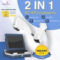 9D HIFU Liposonix Corpo Emagrecimento Máquina Face Levantando Alta Intensidade Focado Ultrassom Anti Aging Dispositivo Portátil Lipo Ultrasonic Skin Equipamento Tighante
