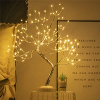 Tabletop Bonsai Tree Light with 108 LED Copper Wire String Lights, DIY Artificial Tree Lamp, Battery USB Operated,Indoor Decoration Lights