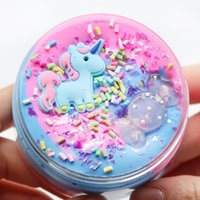 100ml Unicorn Puff Slime Plastic Clay Light Colorful Modeling Polymer Sand Fluffy Plasticine Gum For Handmade Toy 0368