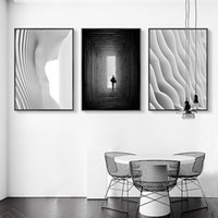 Arte de la pared nórdico Fotos HD 3 Grabados Panel Espacio Negro Blanco Cartel Decoración para el hogar Pinturas de lienzo Marco modular para sala de estar CNUW