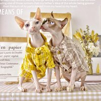 Sphynx Cat Shirt Summer Thin Skates Hairless Dress Short Feet Clothes Outfits Pet Clothing Costumes