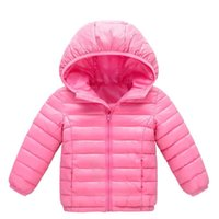 Down Coat Winter Children Boys Girls Long Sleeve Solid Color Zip Up Hooded Jacket Casual Warm Thicken Parka Outwear#fs