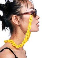 Moda Cores Puras Design Óculos Correntes Acrílicas Anéis Eyewear Eyewear Corrida Sólido Conciso Plástico Óculos Acessórios