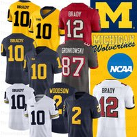 NCAA Michigan Wolverines Jersey Desmond Howard 10 Tom Brady 2 Charles Woodson Shea Patterson College Football Jersey