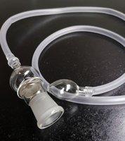 Látigo de silicona para vaporizador Vidrio de vidrio caliente Diámetro de manguera de 18,8 mm Adaptador Hierba seca Vaporizador Accesorios para fumar Vape Tubería de agua Schkang Venta