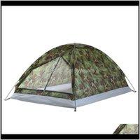 Tende e rifugi Hoo Camping per 2 persone Strato singolo Portatile Camouflage Impermeabile Tenda escursionistica all'aperto T2DAH ZDTWG
