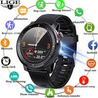 Relógio de designer relógios relógios de luxo relógio homens ecg frequência cardíaca monitor de pressão arterial led lanterna esportes fitness rastreador inteligente