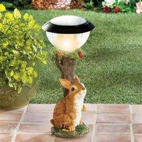 Lawn Lamps Solar Garden Squirrel Statue Ornament Animal Light Cat Climbing Lamp Decor Art Figurine Crafts Sculpture Resin Home
