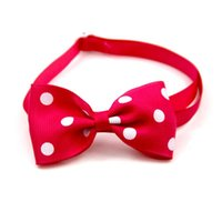 Pet Dog Cat Necklace Adjustable Strap For Collar Dogs Accessories Bow Tie Puppy Ties Multi Color Supplies Apparel