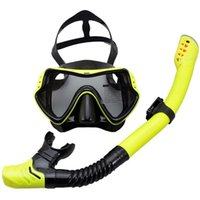 Diving Masks Swimming Glasses Set With Breathing Tube Underwater Scuba Silicone Goggles Full Dry Snorkeling Mask For Men Women
