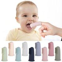 Bambino morbido dito spazzolino da denti da denti per bambini trasparente massaggio morbido in silicone infantile spazzolino per il dente pulizia della gomma Brush Brush
