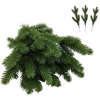 Decorative Flowers & Wreaths 40 PCS Artificial Pine Needles Branches Garland, 11 Inch Fake Plants Leaves Needle For DIY Garland Wreath Chris