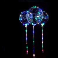 Nuovi palloncini LED luminosi con bastone gigante brillante palloncino illuminato palloncino bambini giocattolo giocattolo festa di compleanno decorazioni da sposa 1098 V2